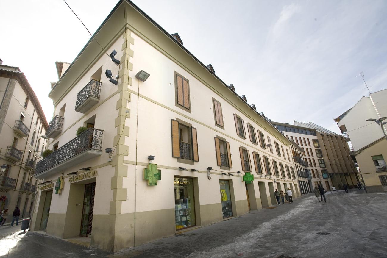 Panorámica edificio Arlanza en Jaca, Huesca
