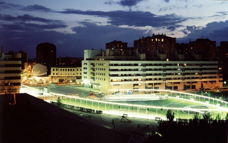 Residencial Las Miguelas, Huesca. Fotografía nocturna.