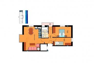 Plano piso calle Tinte, 23 en Biescas, Huesca